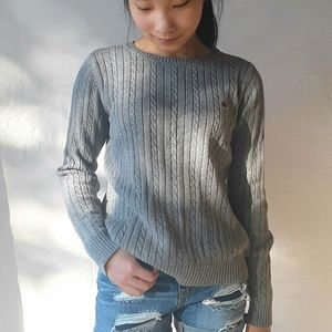 IZOD Grey Cable Knit Sweater